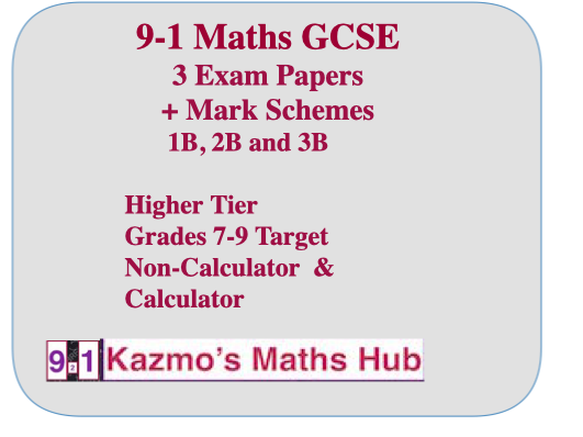 9-1 GCSE  Maths Exam Papers