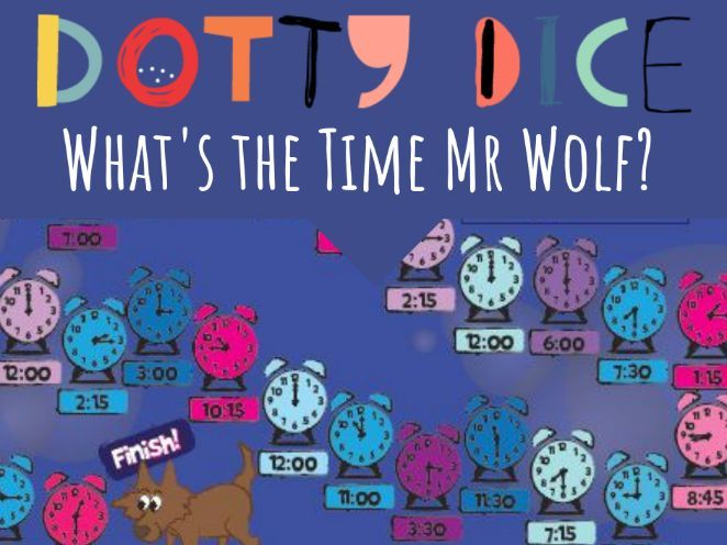 What's the Time Mr Wolf? Board Game  - Learn to tell the time - analogue and digital clocks