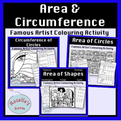 Area & Circumference - Colour by Number Activity Bundle