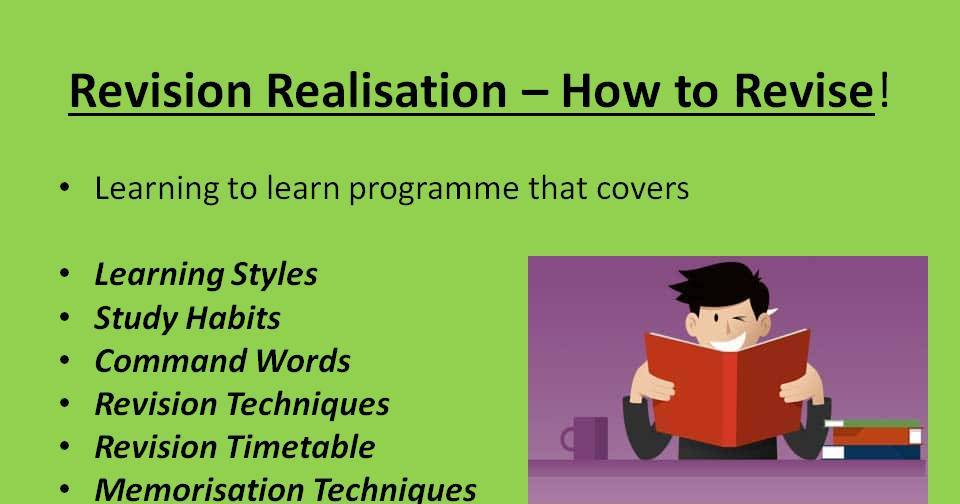 Revision Realisation - How to Revise