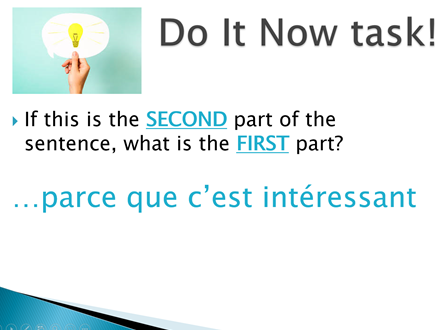 Quick Starter / Get Thinking / Do Now Tasks ppt