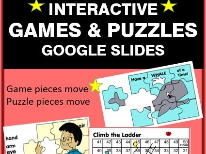 INTERACTIVE Puzzles and Games for Google Slides Distance Learning