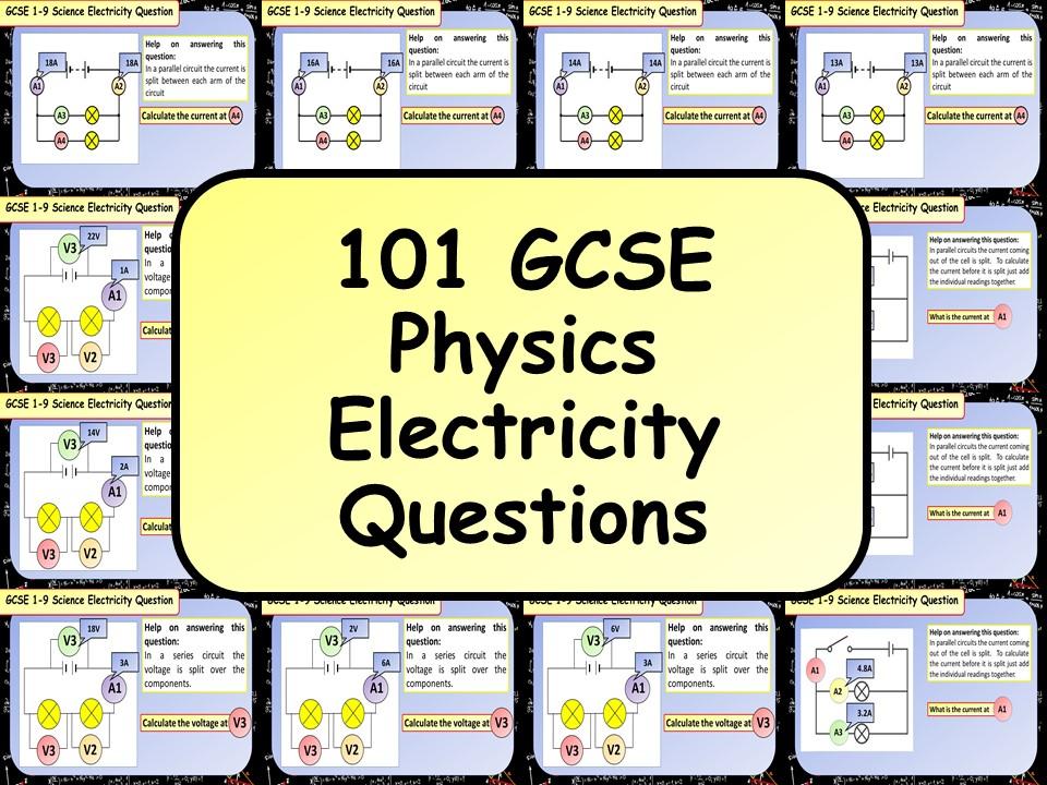 101 KS4 GCSE Physics (Science) Electricity Questions