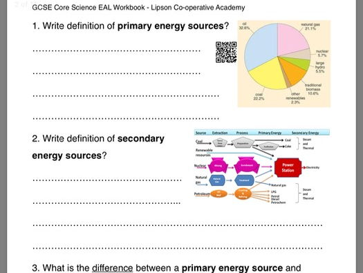 GCSE Science P3 Sustainable energy (EAL)