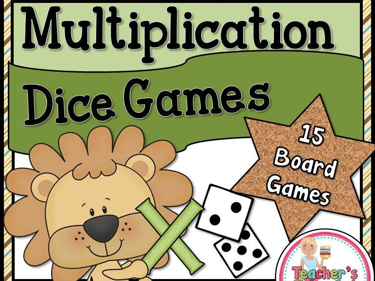 Multiplication Dice Games