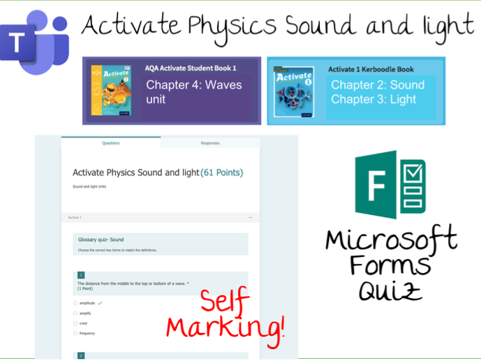 AQA Activate Physics Sound and light Book 1 Microsoft Forms
