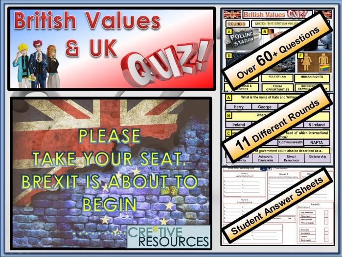 British Values & UK end of term Quiz