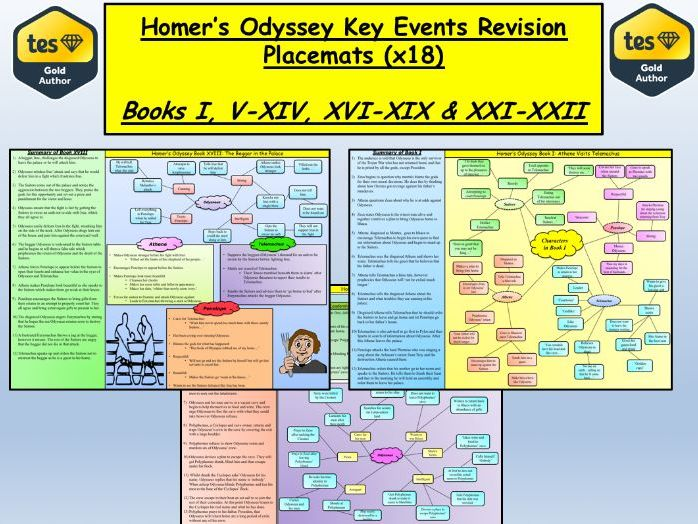 Homer's Odyssey Key Events Revision Placemats (x18)
