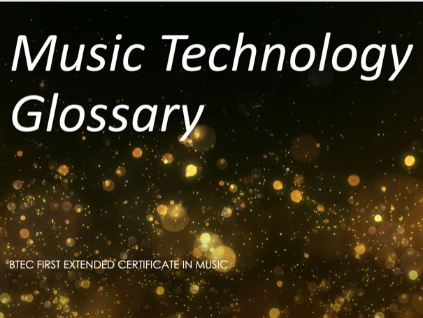 Music Analysis Revision