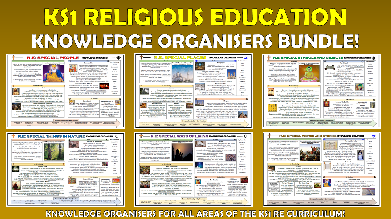 KS1 RE Knowledge Organisers Bundle!