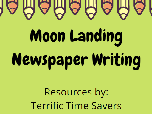 Moon Landing Newspaper Writing