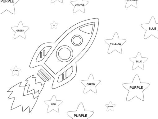 Primary and Secondary colours colouring pages