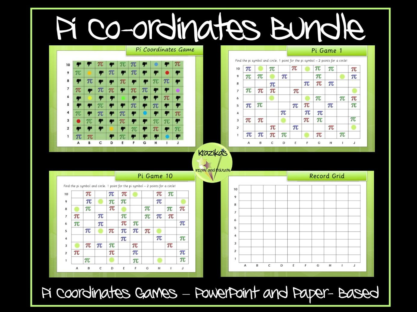Pi Day Coordinates Games