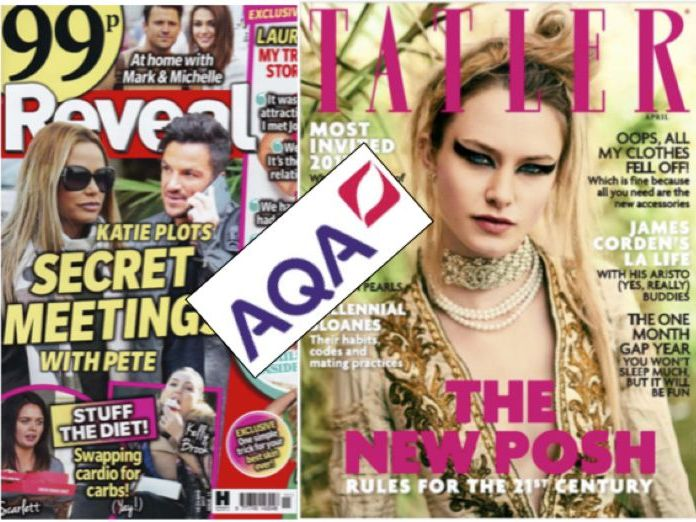 AQA TATLER AND REVEAL MAGAZINE  GCSE MEDIA STUDIES SOURCE-BASED REVISION