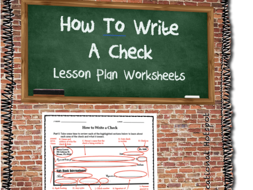 How To Write a Check Guided Notes