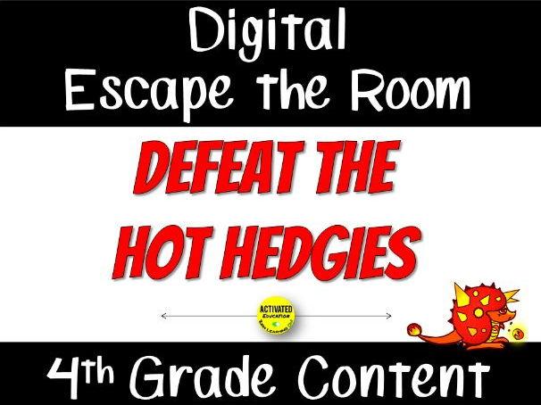 Digital Escape the Classroom 4th Grade Math Review