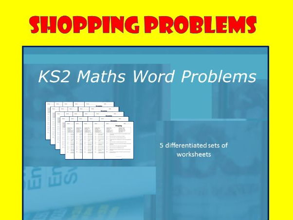 Word Problems - Shopping.  KS2 Maths