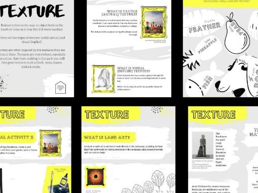 10 Page Texture Activity & Colouring-In Booklet | Appropriate For At Home & Remote Learning |
