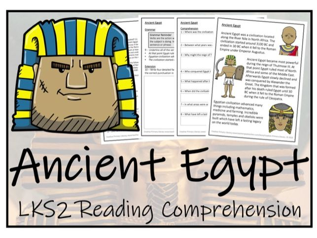 LKS2 History - Ancient Egypt Reading Comprehension Activity