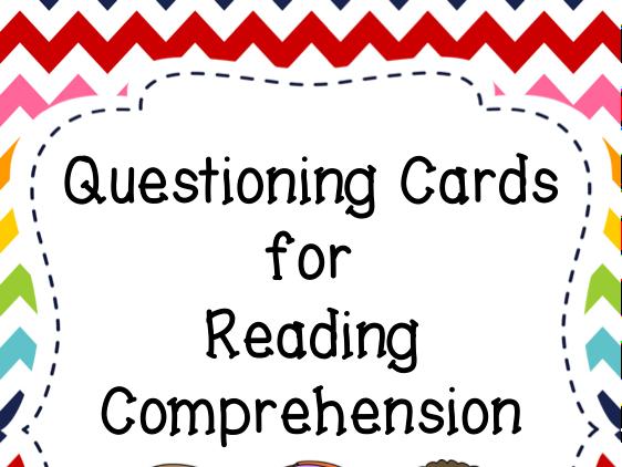 Kindergarten Comprehension Question Cards