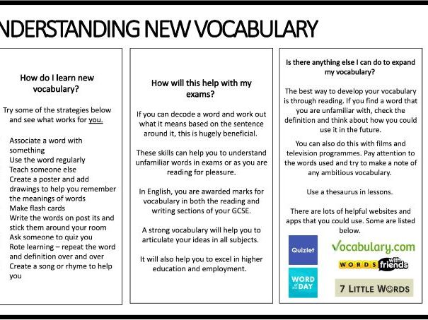 WW1 Poetry Vocabulary and Terminology Booklet