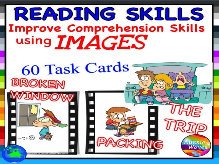 VISUALISING Reading Comprehension & Connection Skills Using Images BUNDLE 3 VISUAL TEXTS