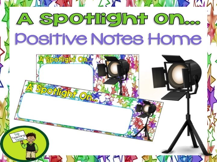 A Spotlight On - Special Certificate/Note Home to Parent