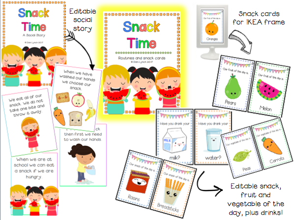 Snack Time Social Story & Routine