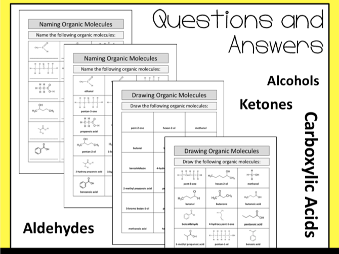 Naming Organic Molecules: Alcohols, Aldehydes, Ketones and Carboxylic Acids
