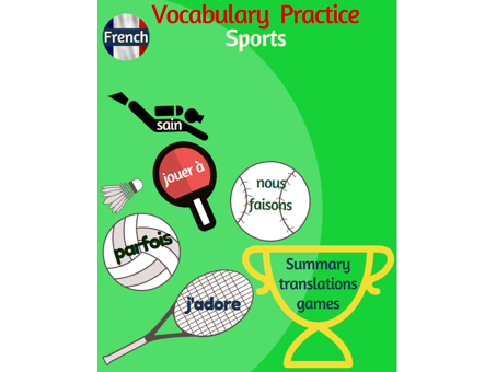 Talking about sports in French: students summary + games