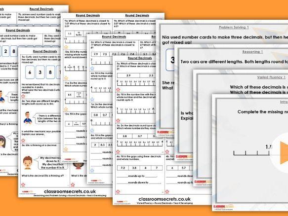 Year 4 Round Decimals Summer Block 1 Step 5 Maths Lesson Pack