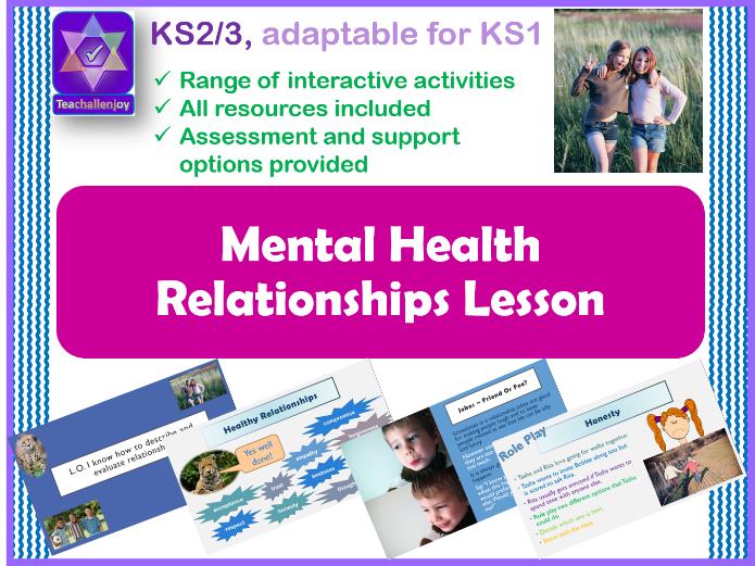 Understanding Relationships Mental Health PSHE Lesson