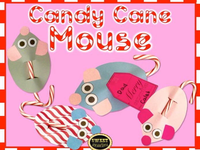 Candy Cane Mouse Craft