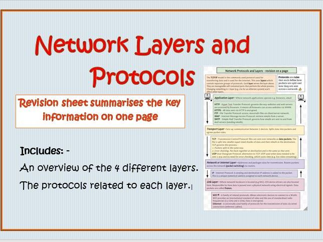 Network Protocols and Layers Revision