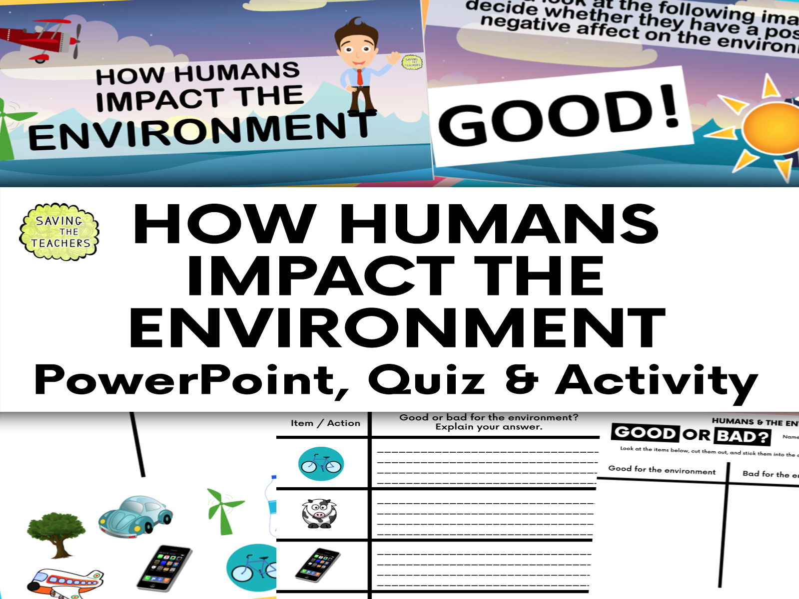Humans And The Environment: How Humans Affect The Environment Bundle