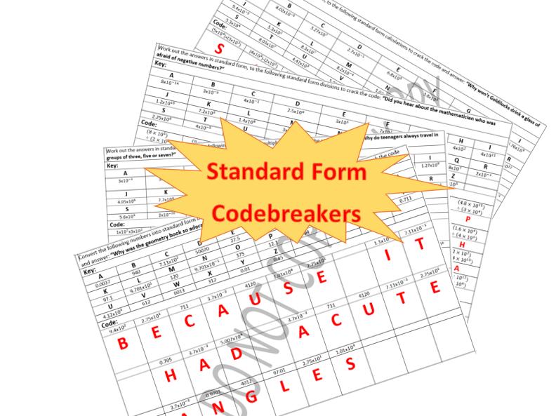 Standard form various codebreakers