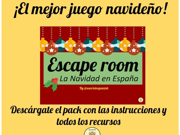 Christmas Escape Room Spanish- La Navidad en España Escape Room