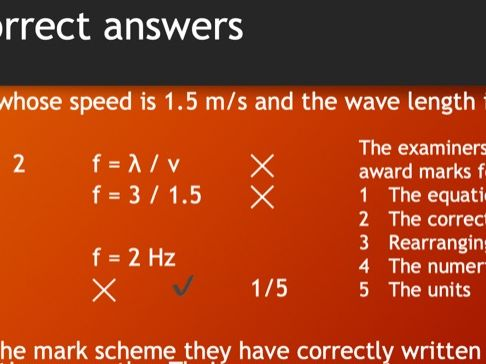 The Wave Equation Practise questions tests and mark schemes