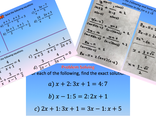 Solving Algebraic Fractions - New Curriculum