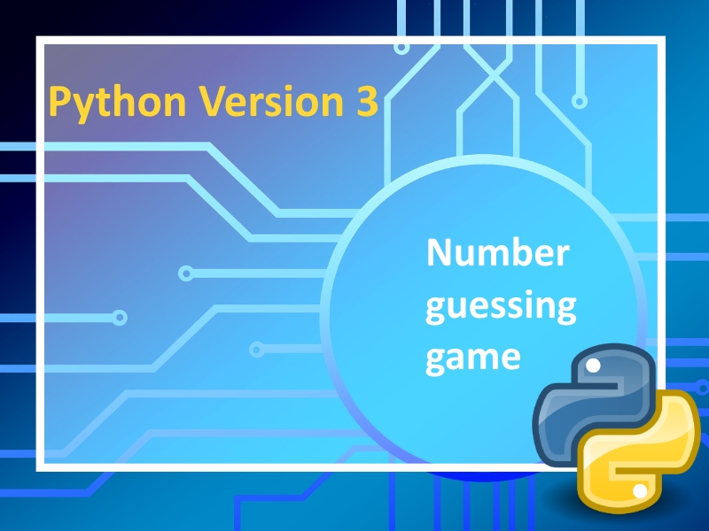 Python 3: Number guessing game with instructional videos