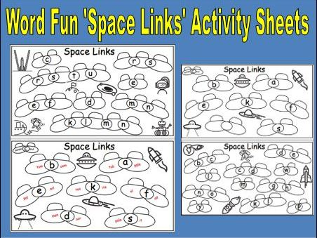 Word Fun 'Space Links' Activity sheets