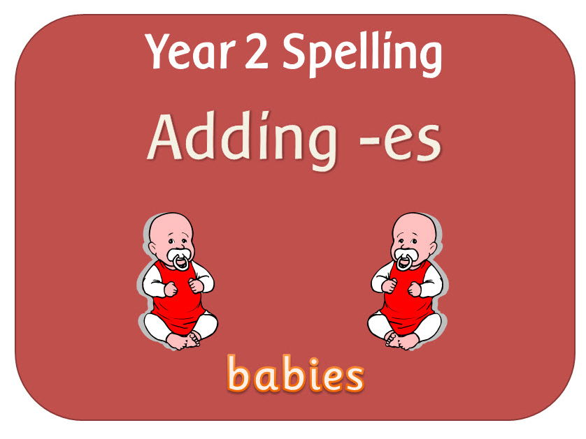 SPaG Year 2 Spelling: Adding –es to nouns and verbs ending in  –y