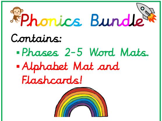 Phonics Mat Bundle Phases 2-5