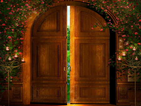 The Door Fabulous poem by Miroslav Holub Illustrated PPT with differentiated comprehensions sheets