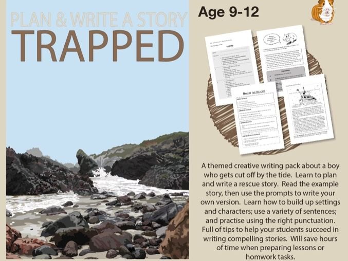 Plan And Write A Story Called 'Trapped' (Creative Story Writing Work Pack) 9-14 years