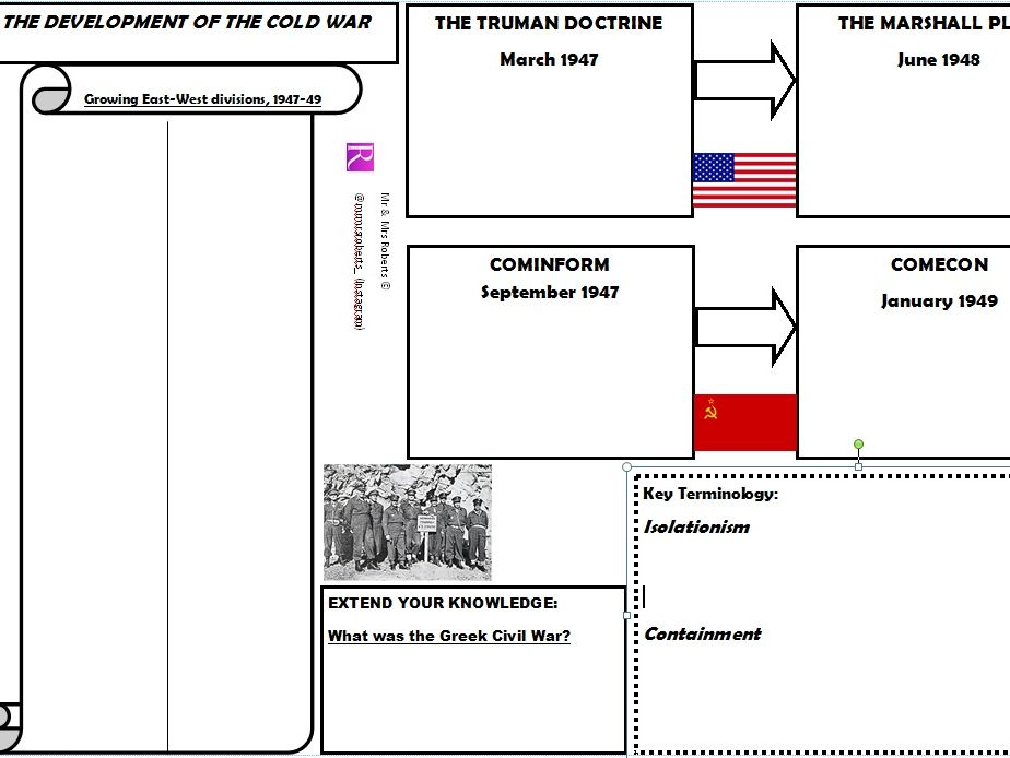 Edexcel GCSE History - Cold War - Topic 1 - Truman Doctrine & The Marshall Plan - WORKSHEET