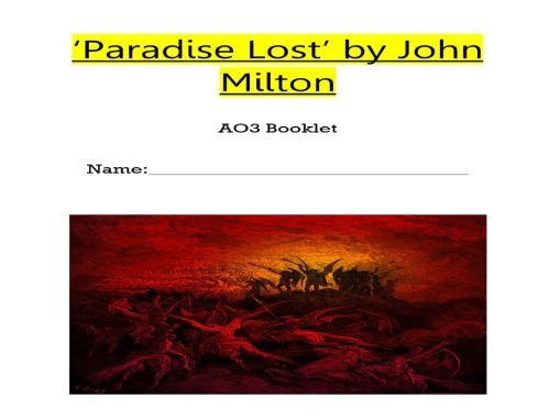 Paradise Lost Context Booklet