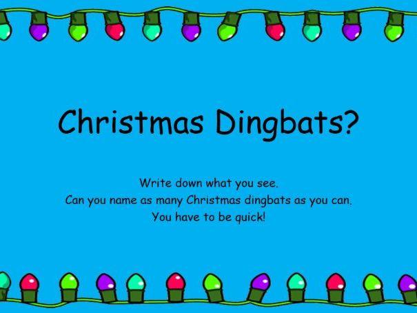 An Awesome Christmas Quiz - Christmas Dingbats