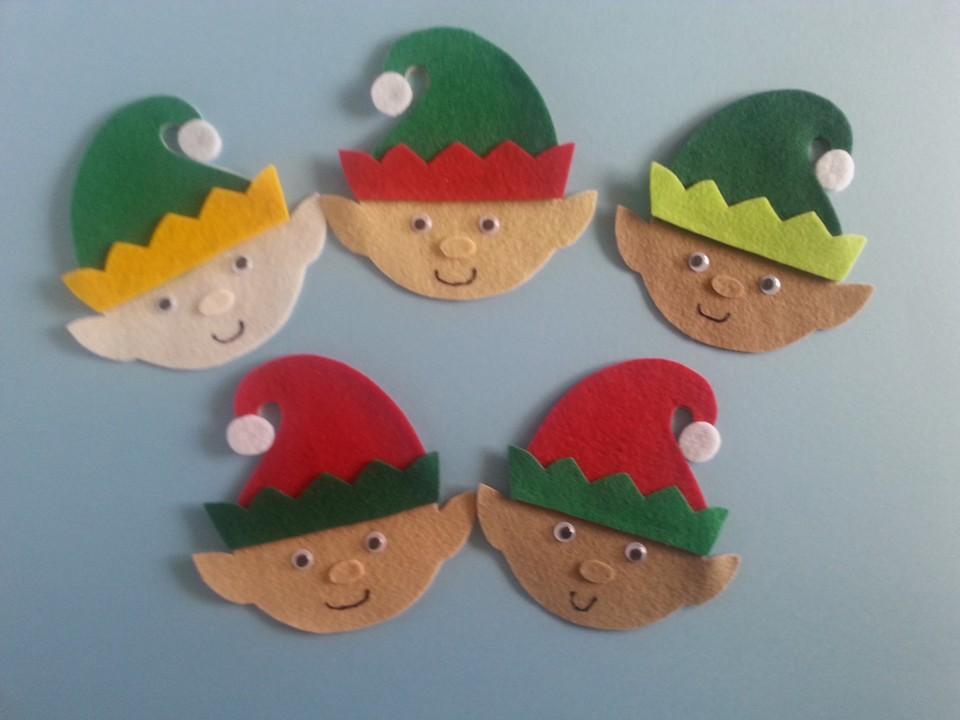 Five Little Elves Felt Board Set Digital Pattern