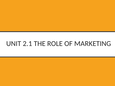 Introduction to Marketing GCSE